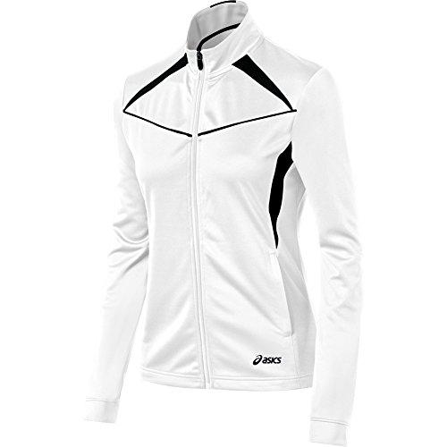 (ASICS Women's Cali Jacket, White/Black,)