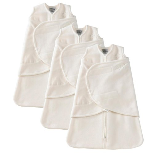 HALO SleepSack Micro-Fleece Swaddle, 3 Pack - Cream (Newborn)