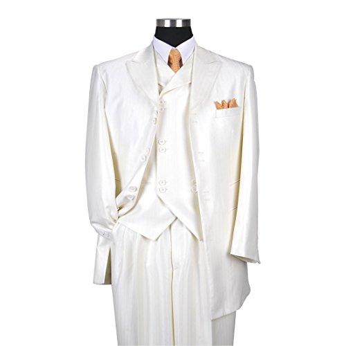 Milano Moda Men's 3 Piece Set Luxurious Wool Feel Suit HL5264 New York Brand by Milano Moda (Image #2)'