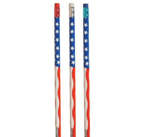 7.5'' American Flag Pencil, Case of 720 by DollarItemDirect (Image #1)