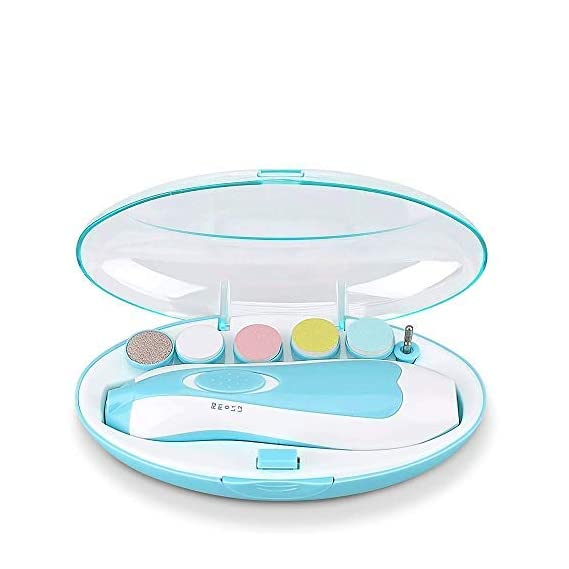 DAKSH Electric Baby Nail Trimmer with 6 Grinding Heads Set Safe for Newborn Infant and Toddler, Trimmer Kit for Kids