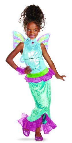 Disguise Girl's Winx Club Aisha Mermaid Classic Costume, -