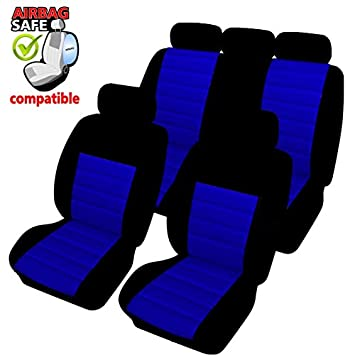 Amazon.es: SB403 - Cubierta de asiento de coche, Protector Asiento de coche, Fundas para asientos de coche con airbag lateral NEGRO/AZUL