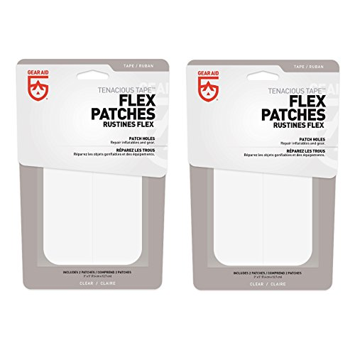 McNett Gear Aid Tenacious Tape Max Flex Repair Patches Permanent (2-Pack) by McNett