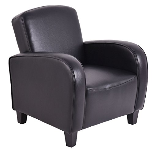 Giantex Modern Accent Arm Chair Single Sofa Leisure Living Room Furniture (Black)