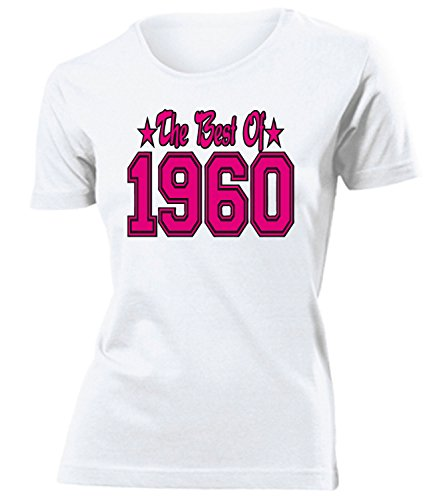 THE BEST OF 1960 - DELUXE - Birthday mujer camiseta Tamaño S to XXL varios colores Blanco