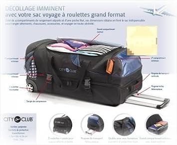 SAC DE VOYAGE A ROULETTES GRAND FORMAT: : Bagages