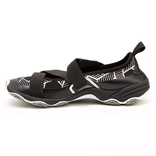 Jambu Womens Oklahoma-Vegan Sneaker,Black/Grey Neoprene/Lycra,US 7.5 M