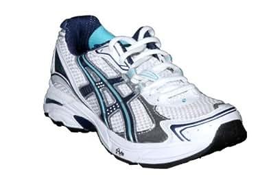 ASICS Women's GT-2130 Running Shoe,White/Midnight/Turquoise,6.5 D US