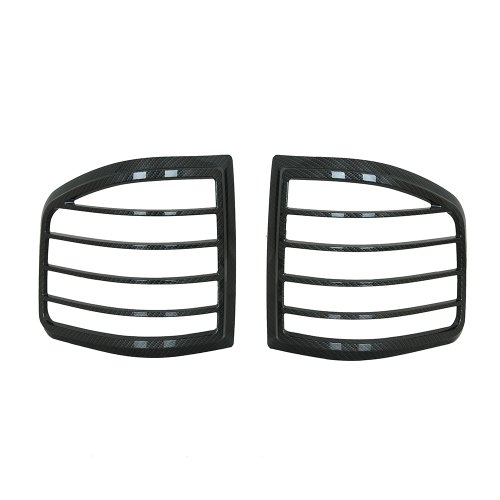 Light Tail Chrome Flareside Cover (E-Autogrilles Black Carbon Fiber Look Tail Light Lamp Trim Bezel Kit Cover for 04-08 Ford F-150 Flareside (67-0302CF))