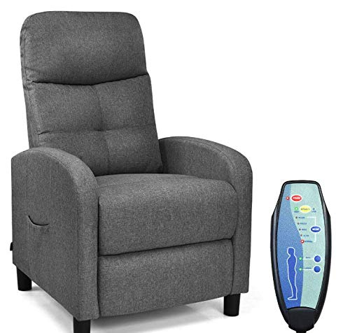 Electric Recliner with Remote Control for 5 Massage Modes and Ergonomic Design for Lumbar Support | Reclining Sofa Chair at Home Or Office for Relaxing