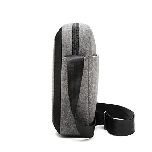 YQSMYSW Business Casual Shoulder Bag Mens Shoulder Messenger Bag Messenger Bag Mens Bag Color : Grey