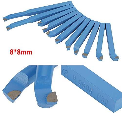 11 Stücke Hartmetall Drehstahl Satz 8 * 8mm Drehmeißel Drehwerkzeuge Fräsen Schneiden Drehen Werkzeugsatz mit Holzkiste