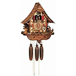 Schneider Black Forest 17 Inch Musical Children on Teeter-totter 8 Day Movement Cuckoo Clock