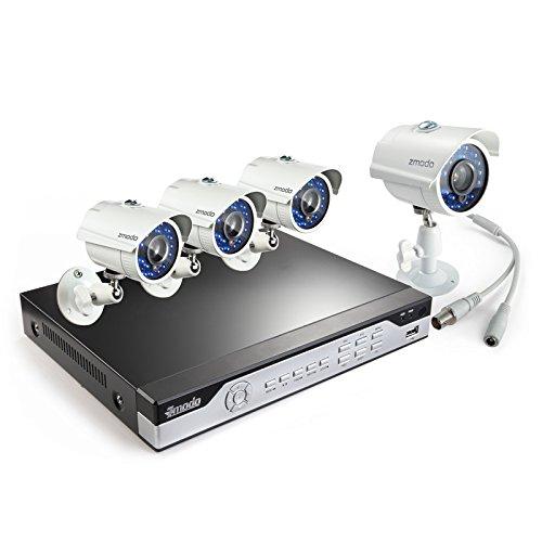Zmodo KHI8-YARUZ4ZN 8-Channel H.264 960H DVR Security System with 4 700TVL IR Cameras (White)