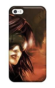 Rugged Skin Case Cover For Iphone 5/5s- Eco-friendly Packaging(ghost In The Shell Anime Other)