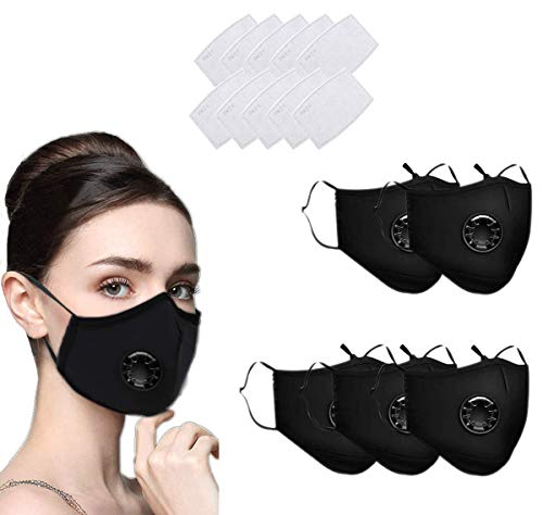 N/O 3 PCS Reusable Face shields Washable UK Dust Face shields with Filter for Motorcycle Bicycle Running, Cycling…