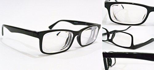 NEARSIGHTED GLASSES for SEEING DISTANCE myopia BLACK optical frame MINUS POWER - Express Glasses Optical