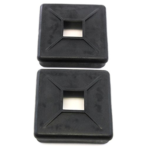 Red Hound Auto 2 Bumper Plug End Caps Square 4 Inches Vented Cover RV Camper Trailer Pair Set ()
