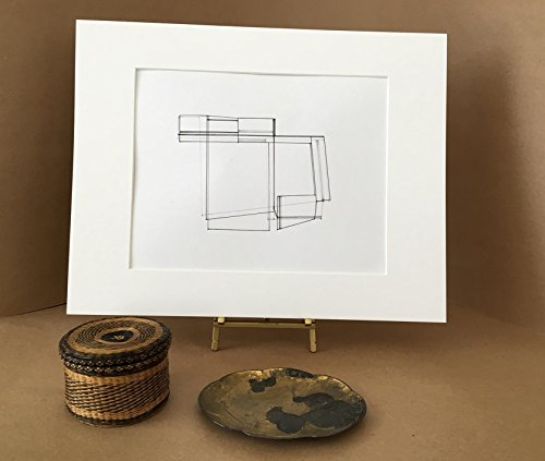 Original Abstract Pen-and-Ink Drawing by Lines in Balance