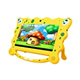7' Kids Edition Tablet PC, Ainol 7C08 with Android 7.1 1GB RAM 8GB ROM, Support TF Card up to 32GB, Dual Camera (2.0M+0.3M) External 3G Dongle 3000 mAh Battery BT4.0 WIFI Yellow Kid-Proof Case