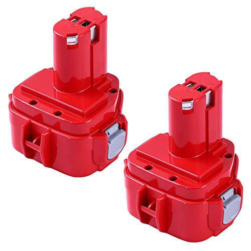 Volt Battery 12 1201 - 3600mAh PA12 Replacement for Makita 12V Battery Ni-MH 1200 1201 1201A 1202 1202A 1220 1222 1233 1235A 1233S 1233SA 1233SB 1234 1235 1235B 1235F 193157-5 Cordless Tools - 2 Pack