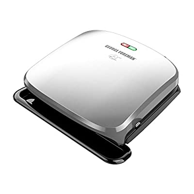 George Foreman GRP1060B 4 Serving Removable Plate Grill, Black