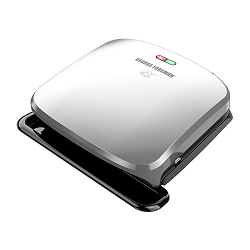 George Foreman 4-Serving Removable Plate Grill and Panini Press, Platinum, GRP3060P (Best George Foreman Indoor Outdoor Grill)