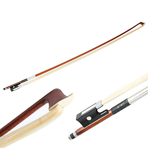New 4/4 Full Size Arbor Horsehair Violin Bow Black (Decor Horsehair)