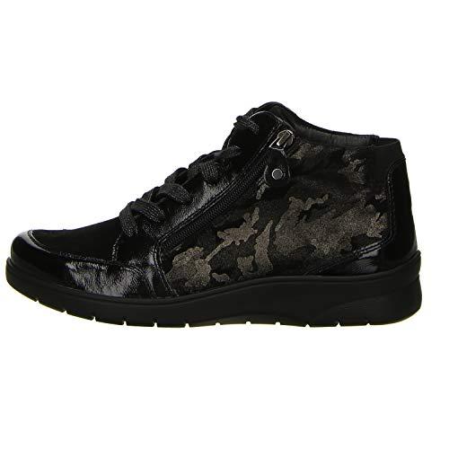 ara Womens L. Zipper Boots Black Wide H Size 6.5 B(M) US (Suede Loafers Ara)