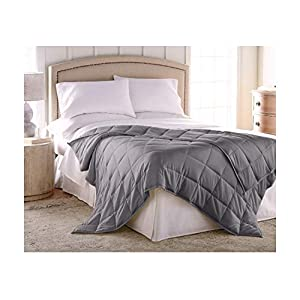 "Gut Health Shop 41wwNfP3vTL._SS300_ Harmonia King Size Weighted Blanket Adult 30 lbs :: Cotton Shell, Glass Bead Fill, 80"" x 86"", Dark Gray + Cotton Duvet Cover, Weighted Blanket King for Adults 30 lbs"