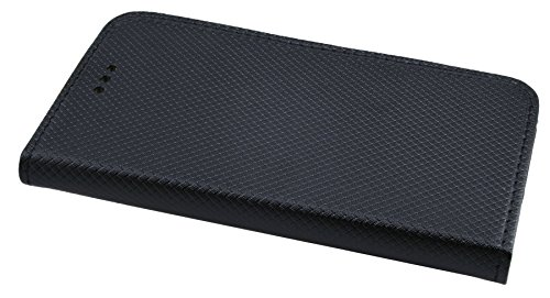 Elegante Buch-Tasche Hülle SMART für das iPhone 8 in Schwarz Leder Optik Wallet Book-Style Cover Schale @ cofi1453®
