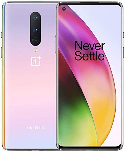OnePlus 8 IN2010 128GB 8GB GSM Unlocked (Interstellar Glow) (Renewed)