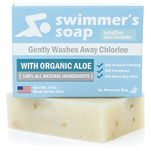 Swimmers Soap by Newton Bay - All Natural Aloe Bar Soap to Gently Wash Away Chlorine After Swimming