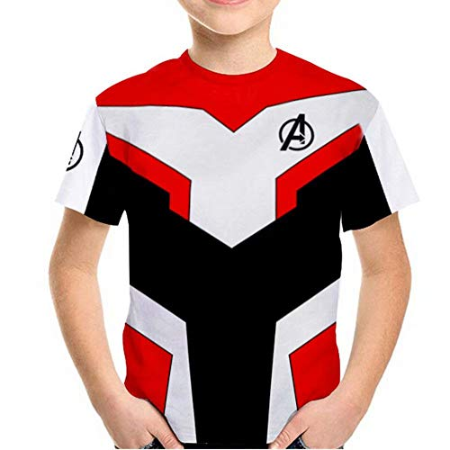 Tsyllyp Kids Girls Superhero Captain T-Shirt Endgame Quantum Realm Costume Tops]()