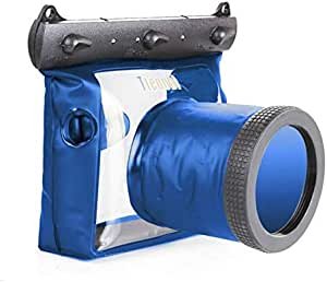 Blue 20M Waterproof Underwater Camera Diving Bag Case Pouch for NIkon Canon Digital SLR Camera