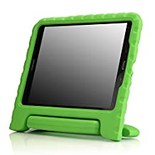 """MoKo Samsung Galaxy Tab A 9.7 Case - Kids Shock Proof Convertible Handle Light Weight Super Protective Stand Cover Case for Samsung Galaxy Tab A 9.7"""" Tablet, GREEN (With S-pen Opening)"""