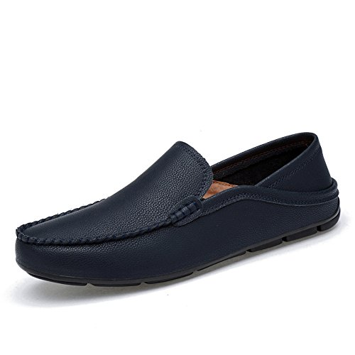 mocassini Meimei Blu pelle barca Color rinfrescanti leggeri da traspirante vera EU foderati shoes per in uomo 36 da Mocassini casual Dimensione e rqwFgXq