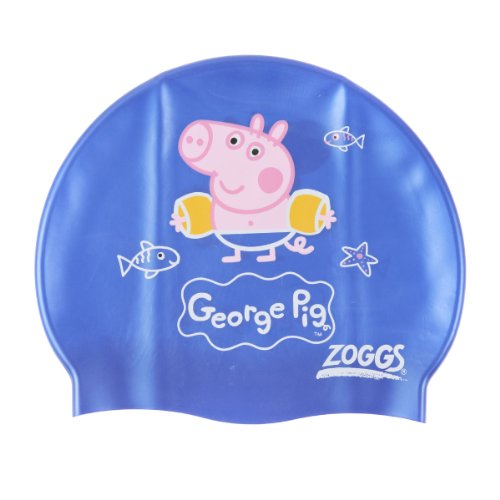 Zoggs George Pig Silicone Character Swimming Cap - Blue