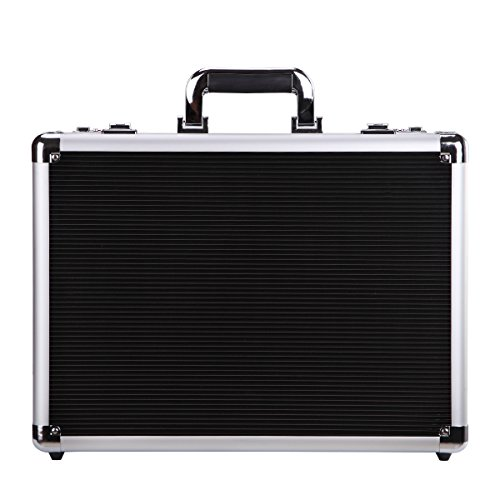 Silver Aluminum Briefcase Flight Cabin Crew Hand Luggage,Hard-sided with Combination Locks450LP-S
