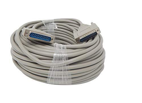 Your Cable Store 100 Foot DB25 25 Pin Serial Port Cable Male/Male RS232
