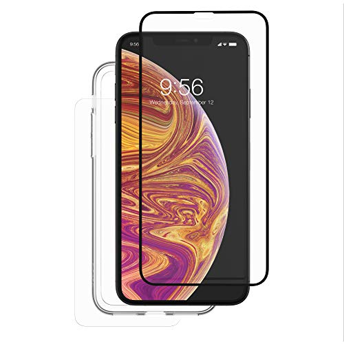 ZAGG InvisibleShield Glass+ 360 - Front + Back Screen Protection with Side Bumpers Made for Apple iPhone XS Max - Clear with Black Borders as Lining by ZAGG (Image #2)