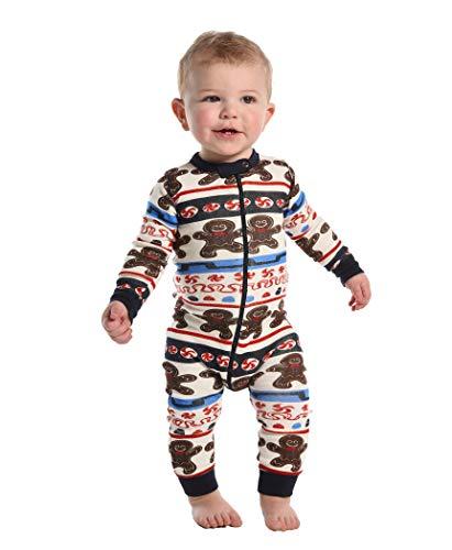 Sweet Cheeks Gingerbread Baby Flapjack Onsie Pajamas by LazyOne | Adult Kid Infant Dog Family Matching Pajamas (6 MO)]()