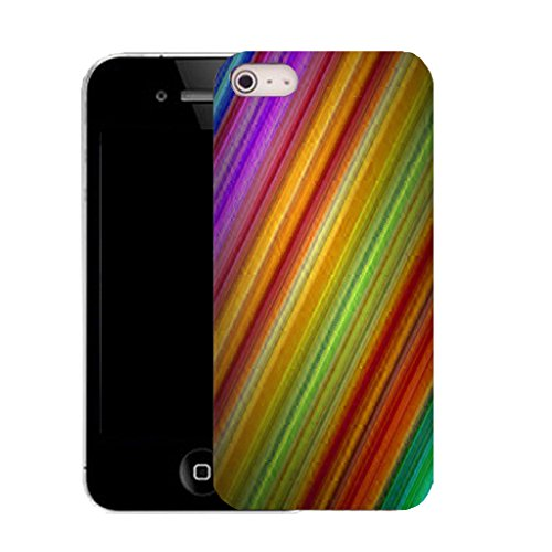 Mobile Case Mate IPhone 4s clip on Silicone Coque couverture case cover Pare-chocs + STYLET - multi coloured eye pattern (SILICON)