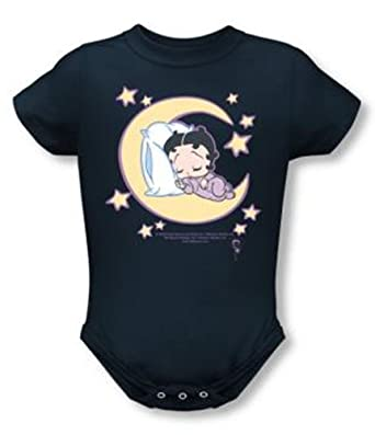 5c0c19aa7d1a Amazon.com  Betty Boop Baby Romper Infant Creeper Sleepy Time Navy ...