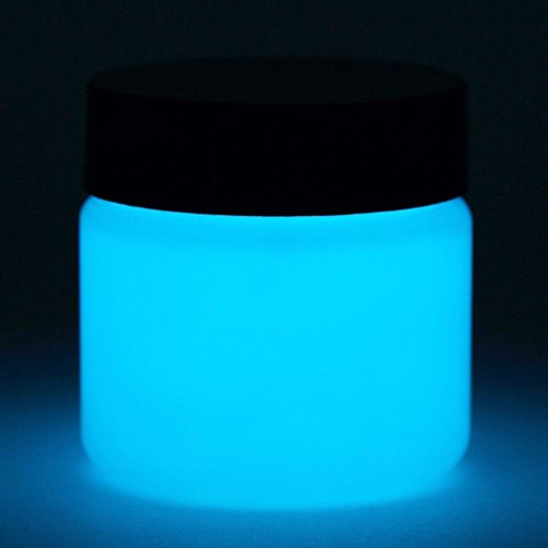 (Glow in The Dark Paint - Premium Artist's Acrylic - 5+ Colors Available - 1 Ounce (Neutral Sky Blue))
