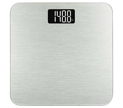Smart Weigh Digital Body Weight Scale,Tempered Glass, Step-On Technology, 400 Pounds, Silver