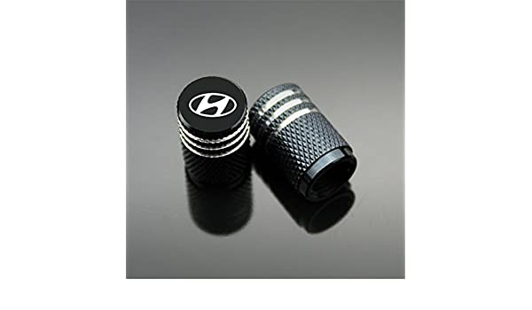 Tapacubos de válvula Hyundai para coche, moto, camión, bicicleta y bicicleta, aluminio, 4 unidades: Amazon.es: Coche y moto