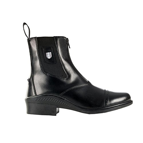 HORZE Sydney Leather Front Zip Jodhpur Boots - Black - 38