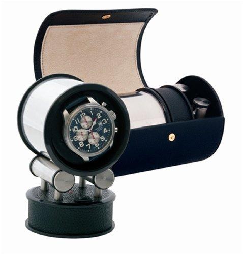 Orbita Voyager Travel Watchwinder - Black Leather W36000